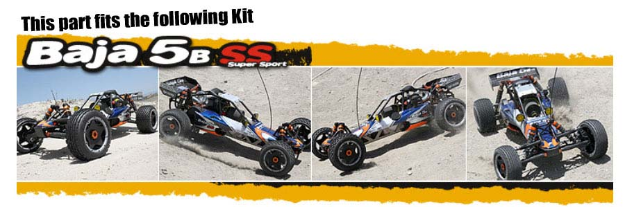 HPI BAJA 5B SS KIT 4741 MOUNTED S& BUSTER PADDLE TYRE M COMPOUND - GENUINE PART!