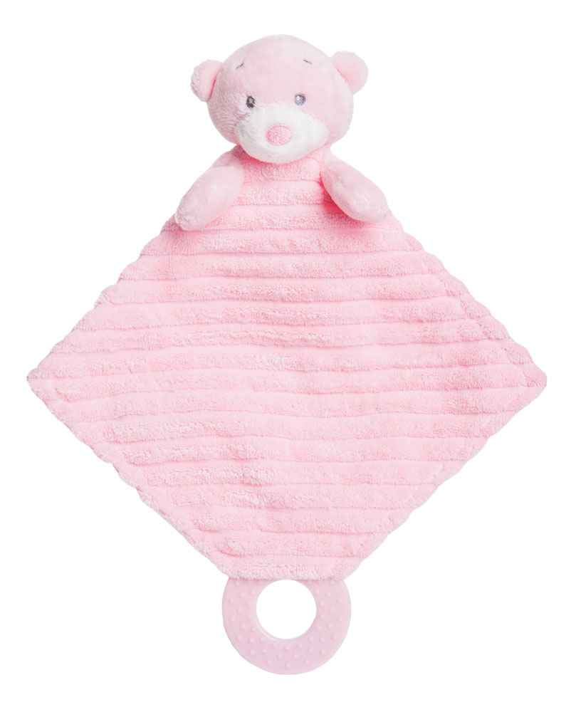 Blue Baby Toys : Aurora baby bear plush soft toy teddy pink blue cream