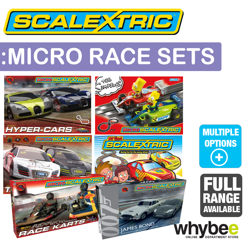New Micro Scalextric Race Sets Full Range Simpsons Hyper