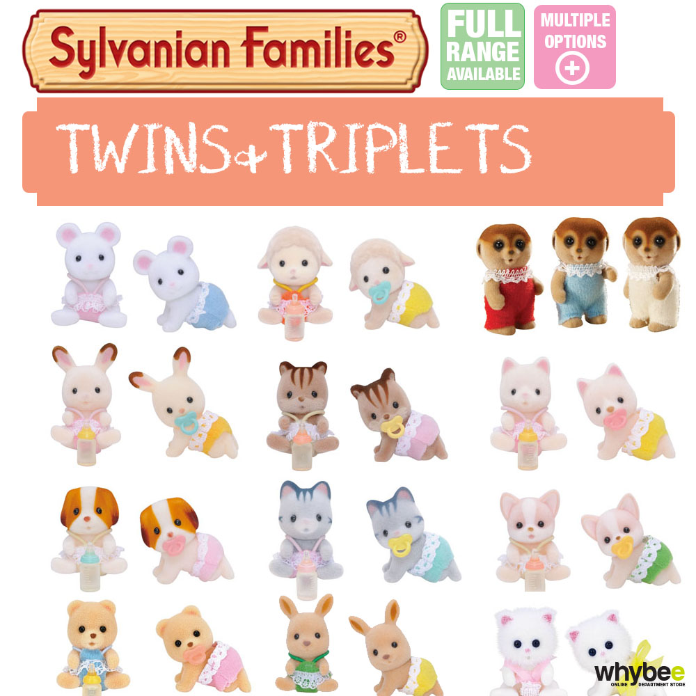 SYLVANIAN FAMILIES TWINS & TRIPLETS FULL RANGE CHOOSE YOUR SET BRAND NEW IN BOX | eBay