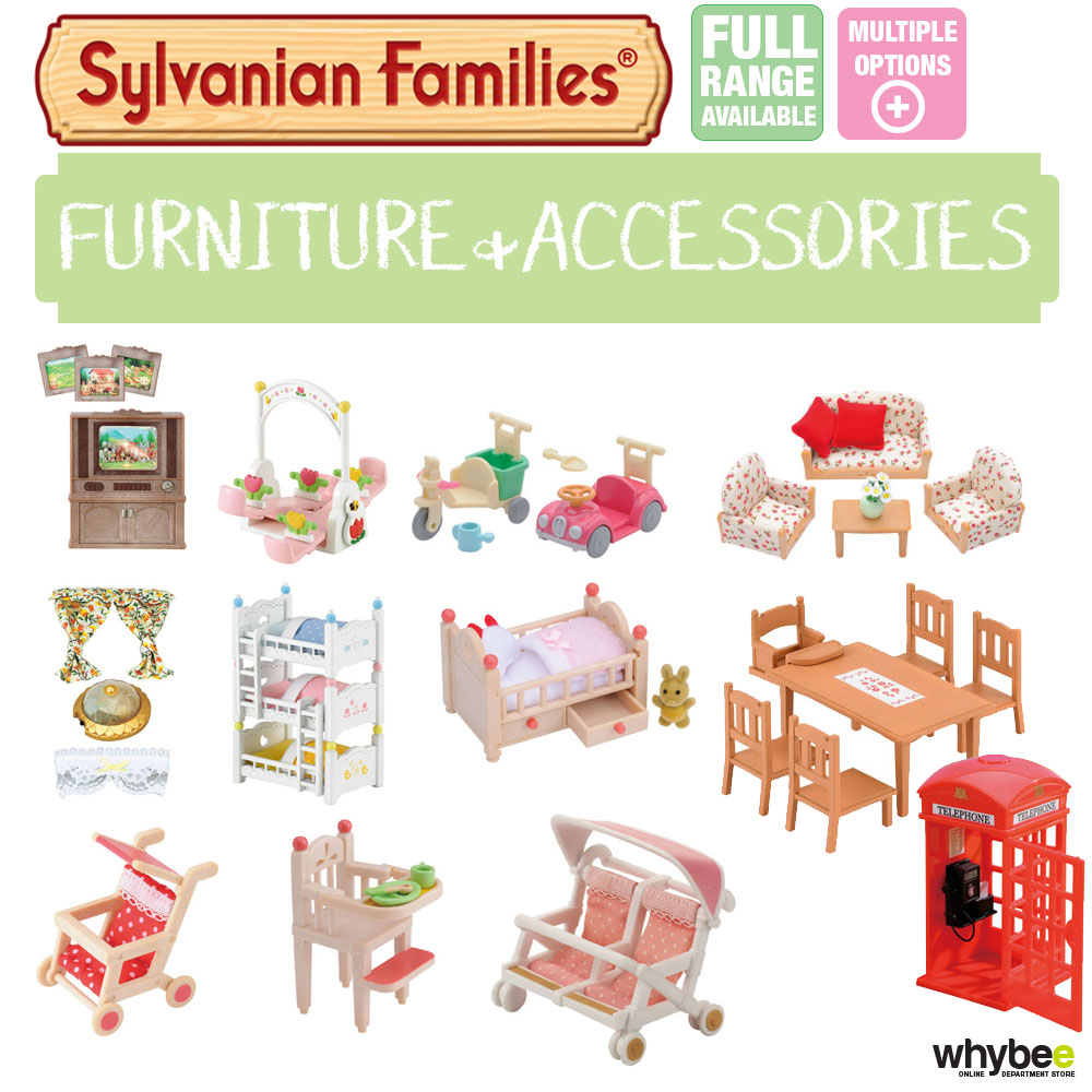 SYLVANIAN FAMILIES FURNITURE ACCESSORIES SETS CHOOSE YOUR SET BRAND NEW