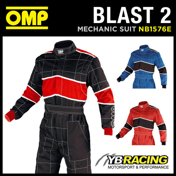 View Item SALE! NB/1576E OMP 'BLAST 2' MECHANIC SUIT PIT CREW OVERALLS for RACING RALLY