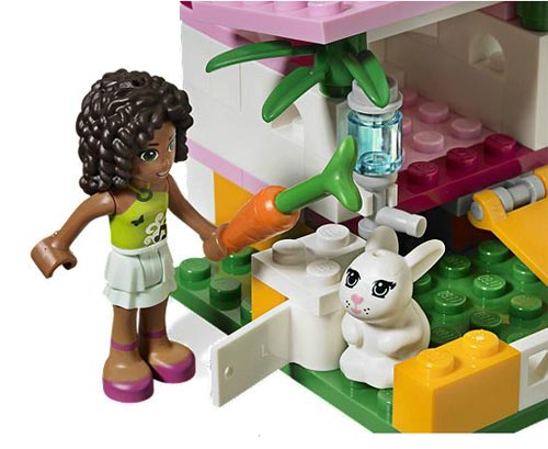 3938 LEGO Andreas Bunny House Girls Friends Heartlake Age 5-12 / 62 Pieces  New!