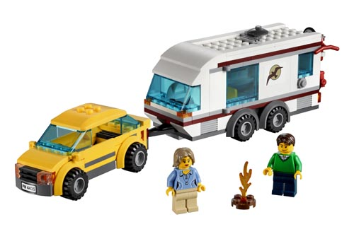 4435 LEGO Car & Caravan LEGO City Town Age 5-12 / 218 Pieces  2012 New Release!