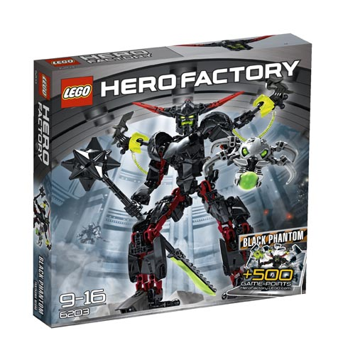 6203 LEGO BLACK PHANTOM Hero Factory HPP Age 9-16 / 124 Pieces  New for 2012!