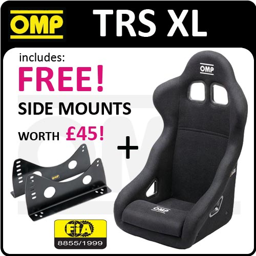 View Item HA/781/N OMP NEW TRS XL RACING BUCKET SEAT - LARGER & HIGHER FOR BIGGER DRIVER!