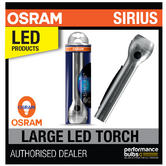 New! OSRAM Sirius Large LED Torch High Power 2.7W Light Home/Garage Aluminium!