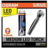New! OSRAM Sirius Medium LED Torch High Power 2.2W Light Home/Garage Aluminium!