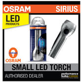 New! OSRAM Sirius Small LED Torch High Power 1.2W Light Home/Garage Aluminium!