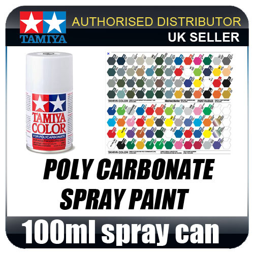86038 TAMIYA PS-38 Translucent Blue POLYCARBONATE SPRAY PAINT - 100ml SPRAY CAN