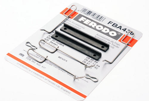 Peugeot 106 Front Brake Pad Fitting Kit S1 XSI RALLYE Ferodo FBA436 Thumbnail 1