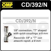 "CD/392/N OMP PLATINUM FIRE EXTINGUISHER 8mm CONNECTION PIECE 1/8"" T SHAPE"