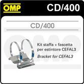 CD/400 OMP PLATINUM CEFAL3 FIRE EXTINGUISHER BRACKET & CLAMPS FIXING KIT