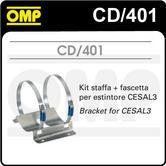 CD/401 OMP PLATINUM CESAL3 FIRE EXTINGUISHER BRACKET & CLAMPS FIXING KIT