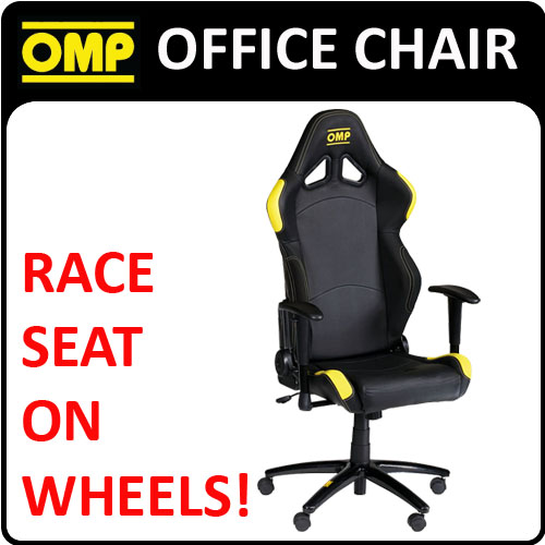 View Item HA/777/NG OMP RACING RALLY LEATHER OFFICE CHAIR ON WHEELS! HOME/OFFICE/WORK
