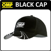 PR907 OMP RACING RALLY FAN BLACK SPORTS COTTON CAP LIGHTWEIGHT WITH VELCRO STRAP