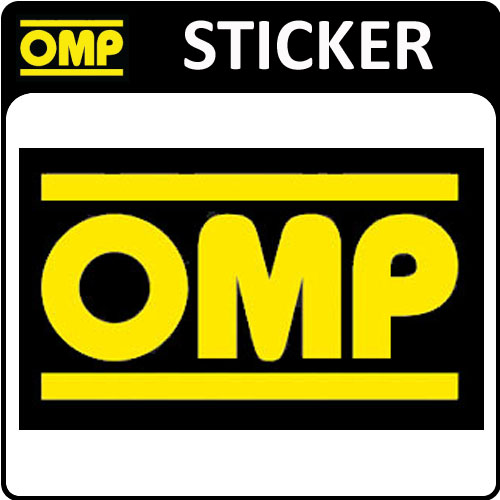 View Item OMP RACING STICKER DECAL 78x46mm SMALL - OFFICIAL OMP MOTORSPORT STICKER!