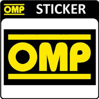 OMP RACING STICKER DECAL 170x101mm LARGE - OFFICIAL OMP MOTORSPORT STICKER!