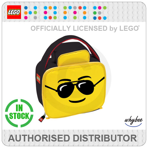 LEGO Man Aviator Head Cool Insulated School Lunch Bag 27x25x8cm  - New! Enlarged Preview