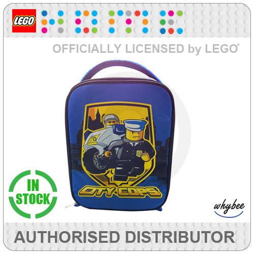 LEGO City Police Cops Cool Insulated School Lunch Bag 25x19x8cm  - New! Enlarged Preview