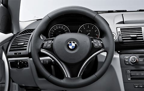 BMW Genuine Steering Wheel Cover Trim Black 1/3 Series X1 32300415491