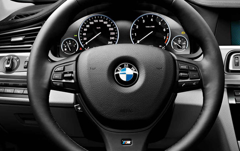 Bmw Genuine M Sport Steering Wheel Cover Trim Black 5 6 7