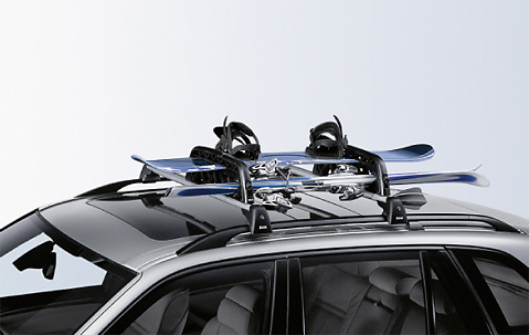 BMW Ski/Snowboard Car Rack Holder Roof Bars Lockable ...
