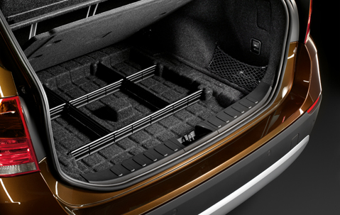 Bmw genuine car boot floor luggage storage organiser panel for Car interior storage solutions
