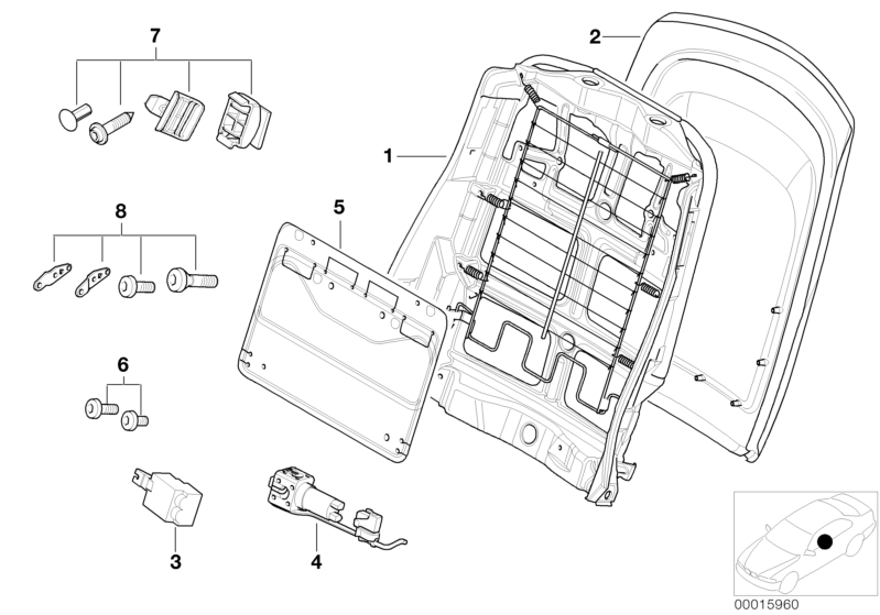 Bmw Genuine Front Seat Panel Storage Net Bag Black E46 3
