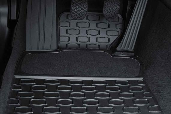 bmw genuine all weather front floor mats black e63 e64 6 series 51470429145 ebay. Black Bedroom Furniture Sets. Home Design Ideas