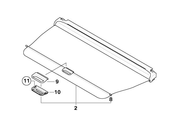 Bmw Genuine Boot  Trunk Luggage  Cargo Room Dividing Roller