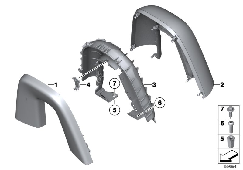 Bmw Genuine Wind Deflector Roll Bar Hoop Trim Cover Right E89 Z4 51437270488 Ebay