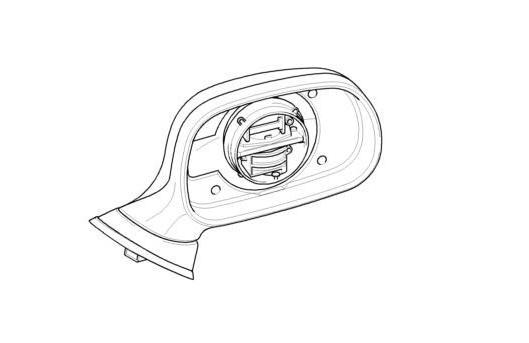 Bmw Genuine Right Wing Mirror Electric Heated Primed Z3