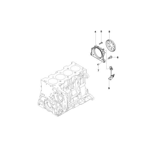 bmw genuine crankshaft sensor 13627809334