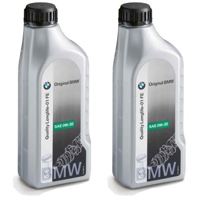 Bmw Genuine Engine Oil Sae 0w 30 Longlife 01 Fe Refill Top