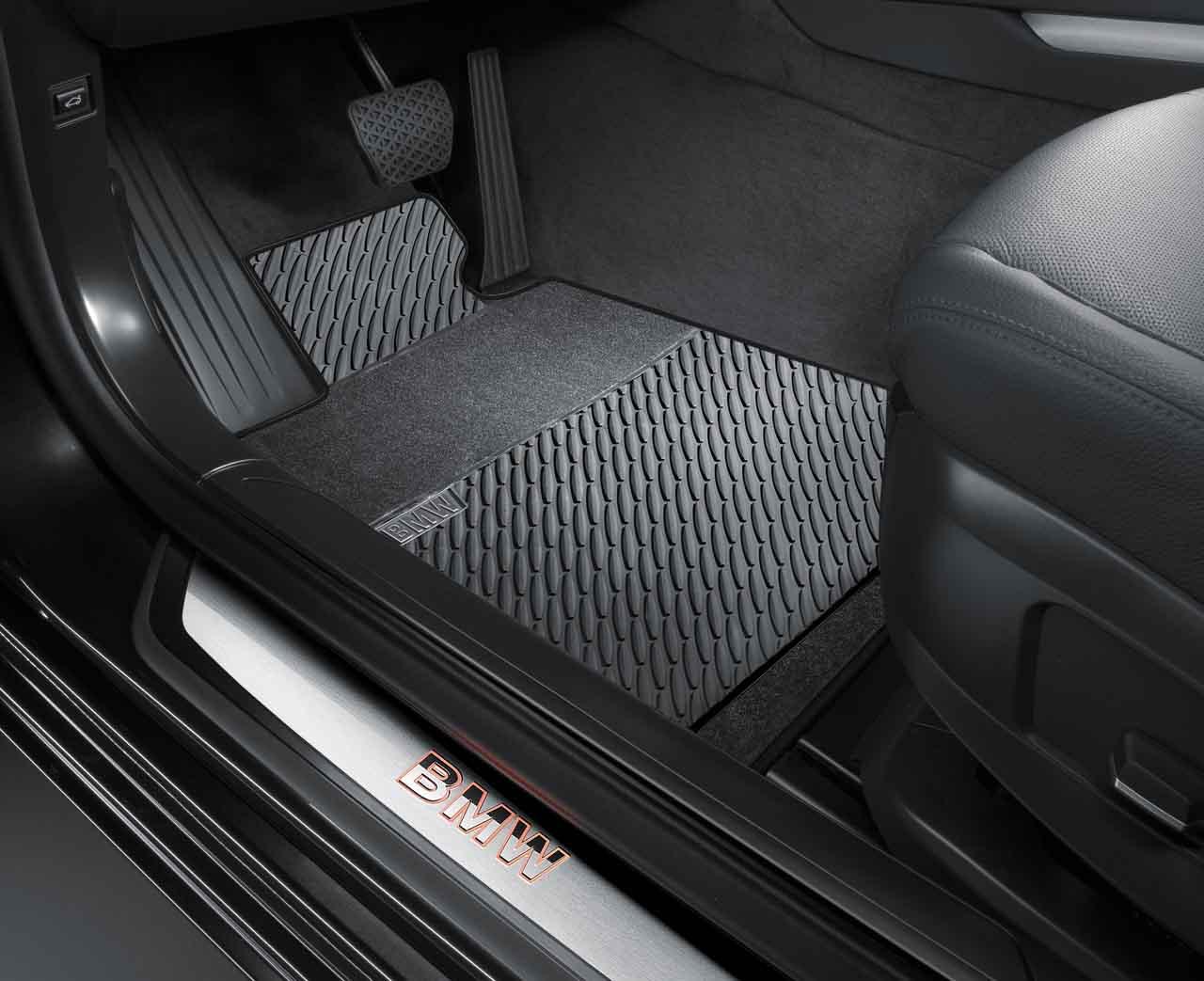Bmw floor mats x1 - Bmw Genuine All Weather Rubber Front Floor Mats Set Black F01 F02 51472217582