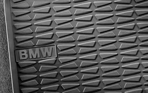 bmw genuine all weather rubber rear floor mats set anthracite e84 x1 51472336795 ebay. Black Bedroom Furniture Sets. Home Design Ideas