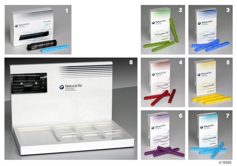 bmw genuine natural air car freshener holder 1x fragrance stick 83122285673. Black Bedroom Furniture Sets. Home Design Ideas