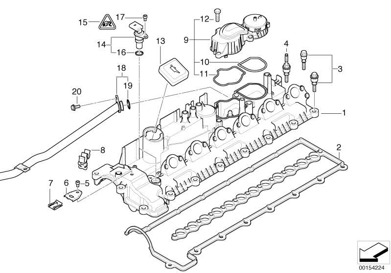 bmw genuine crankcase filter oil breather e60  e61