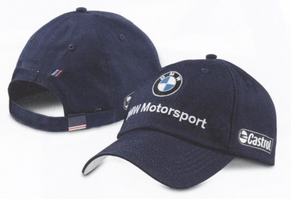 bmw genuine motorsport team baseball hat cap blue