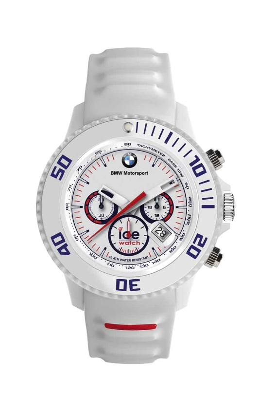 bmw genuine motorsport ice watch chrono silicone white. Black Bedroom Furniture Sets. Home Design Ideas