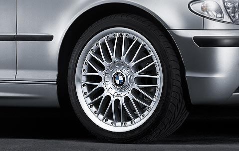 1x BMW Genuine Alloy Wheel 18 Cross Spoke 101 Rim E46 3 Series
