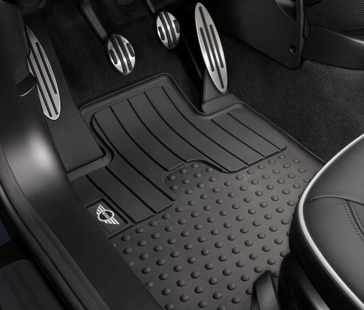 Mini cooper rubber floor mats uk - Mini Genuine All Weather Floor Mats Set Front For R60 R61 51472243921