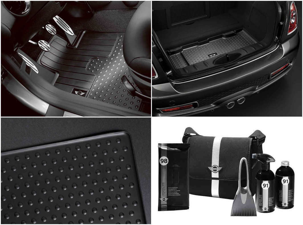 Mini cooper rubber floor mats uk - Mini Genuine R56 Winter Pack All Weather Floor And Luggage Mats Winter Kit