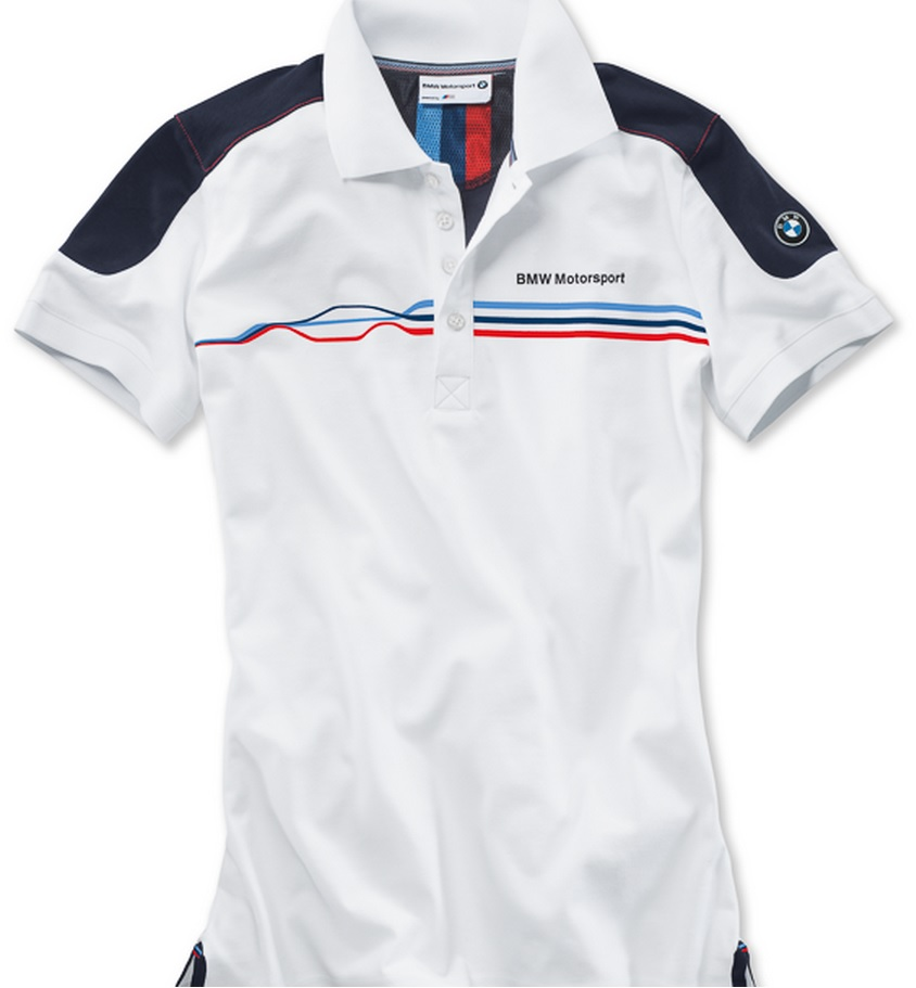 bmw genuine motorsport ladies womens fan polo shirt white. Black Bedroom Furniture Sets. Home Design Ideas