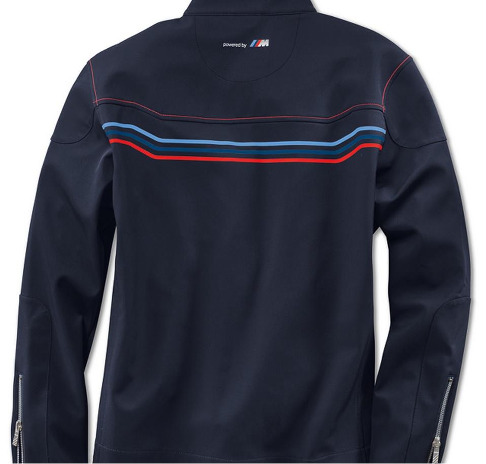 Bmw Genuine Motorsport Mens Blue Soft Shell Zip Jacket