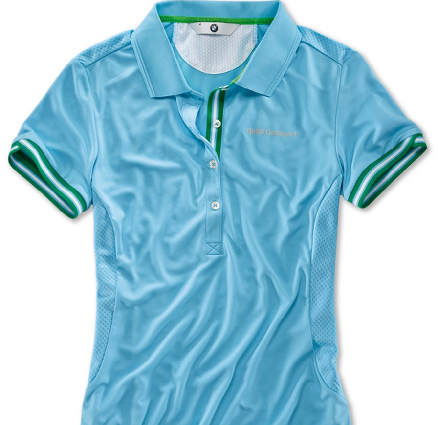 BMW Genuine Golfsport Ladies Womens Polo Shirt Top Short Sleeved Breathable