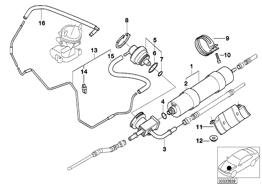 bmw genuine fuel filter e39  e52 5 series m5   z8