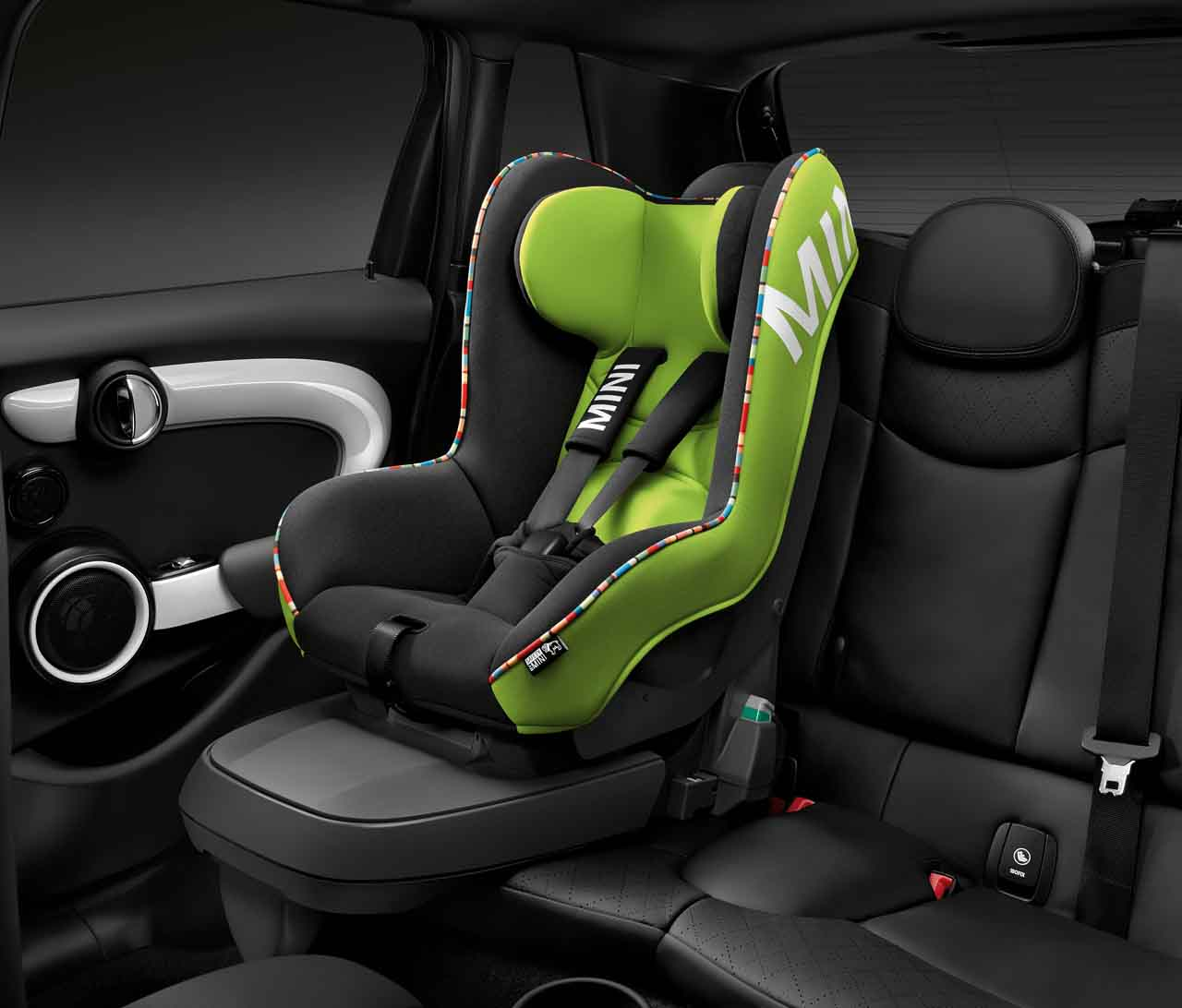 mini genuine baby child kids safety isofix car seat 1 vivid green 82222348237 ebay. Black Bedroom Furniture Sets. Home Design Ideas