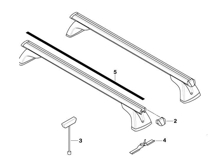 bmw genuine roof rack bars gutter protector f07 5 series